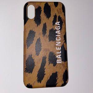 REAL Balenciaga Leopard Print iPhone XS case